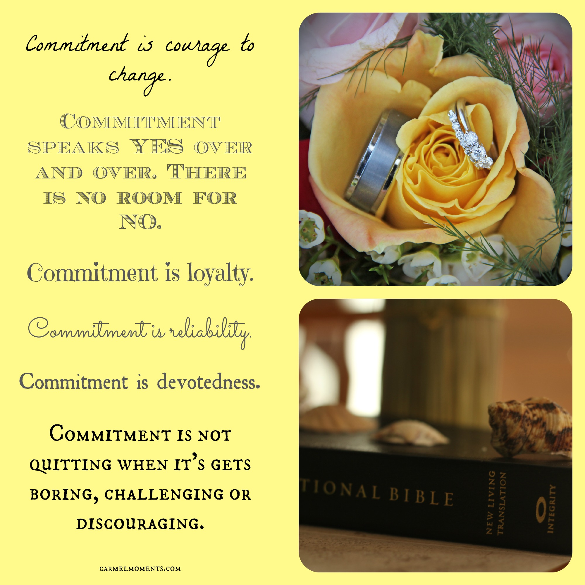 Commitment: What Does It Mean to You?