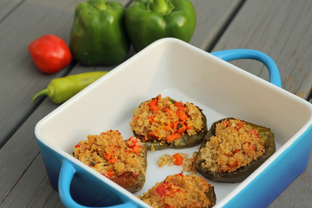 Quinoa Stuffed Peppers | gatherforbread.com