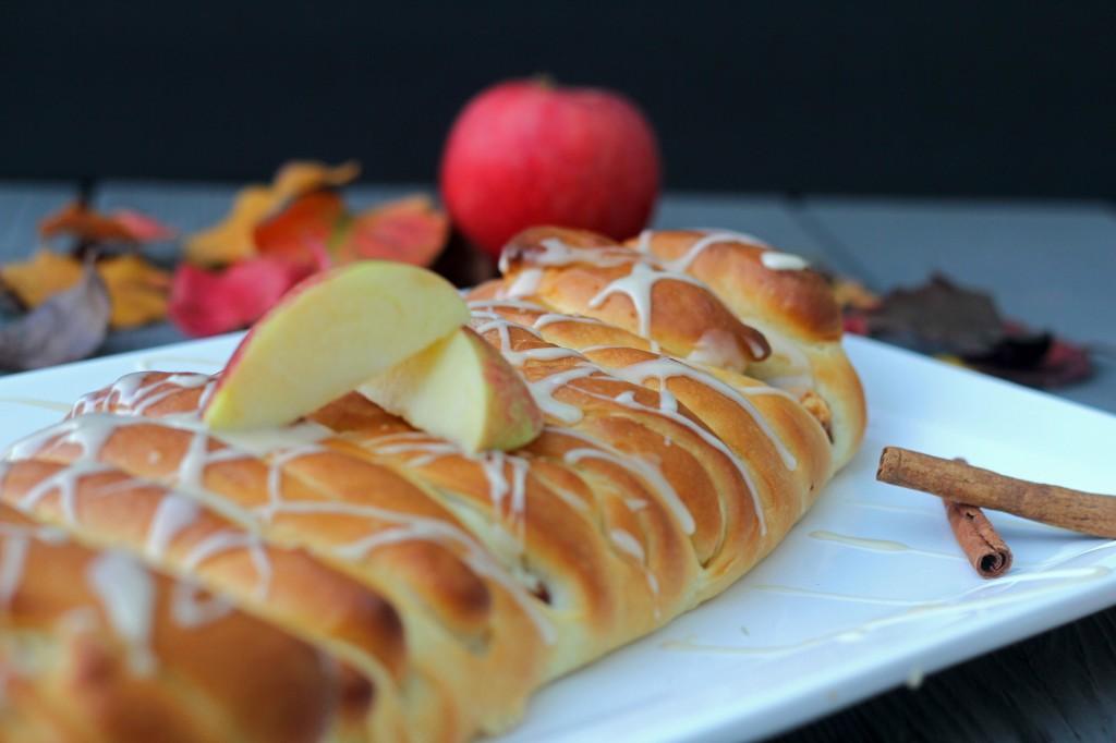 Apple cream cheese braid