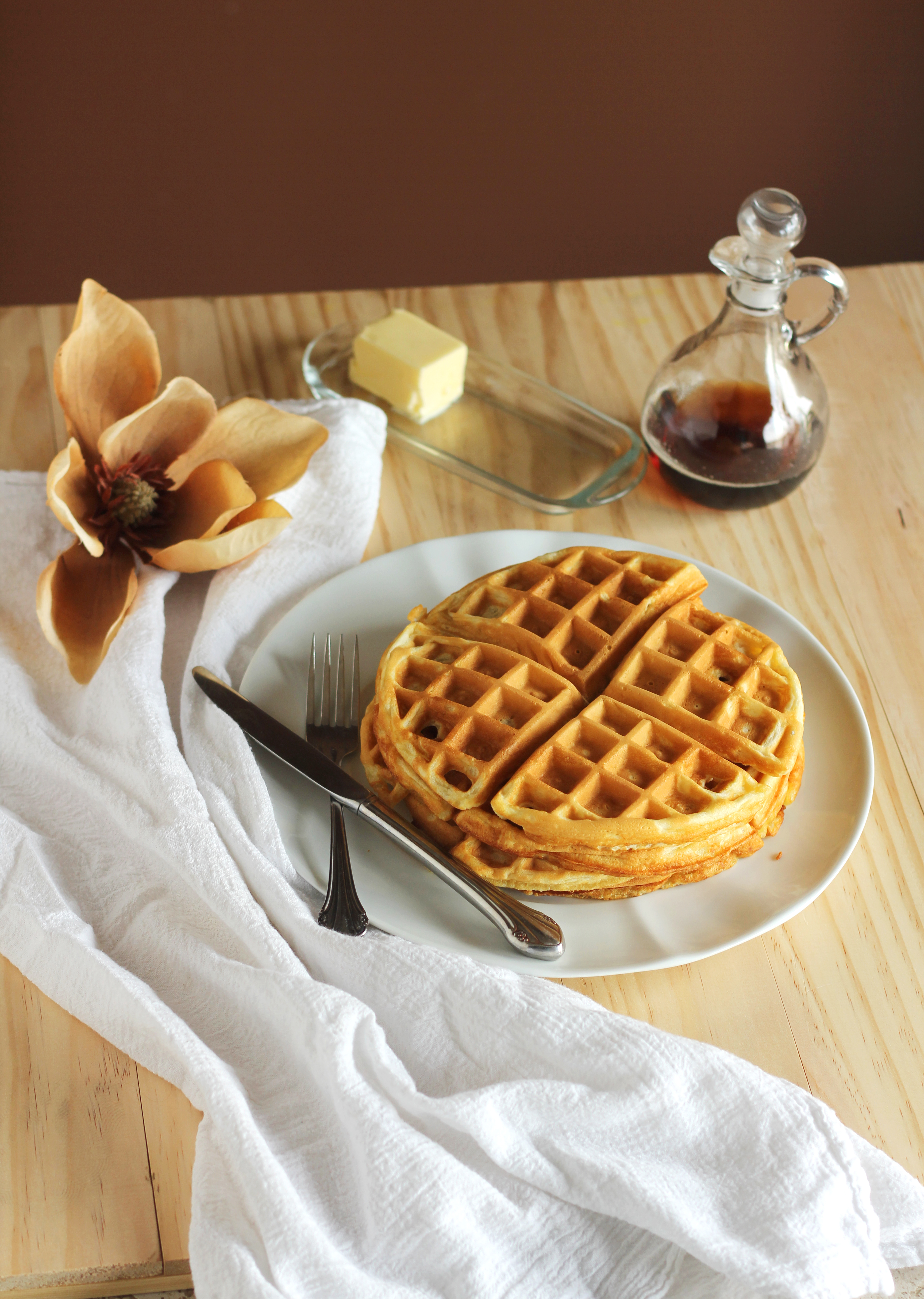 Favorite Buttermilk Waffles - Gather for Bread