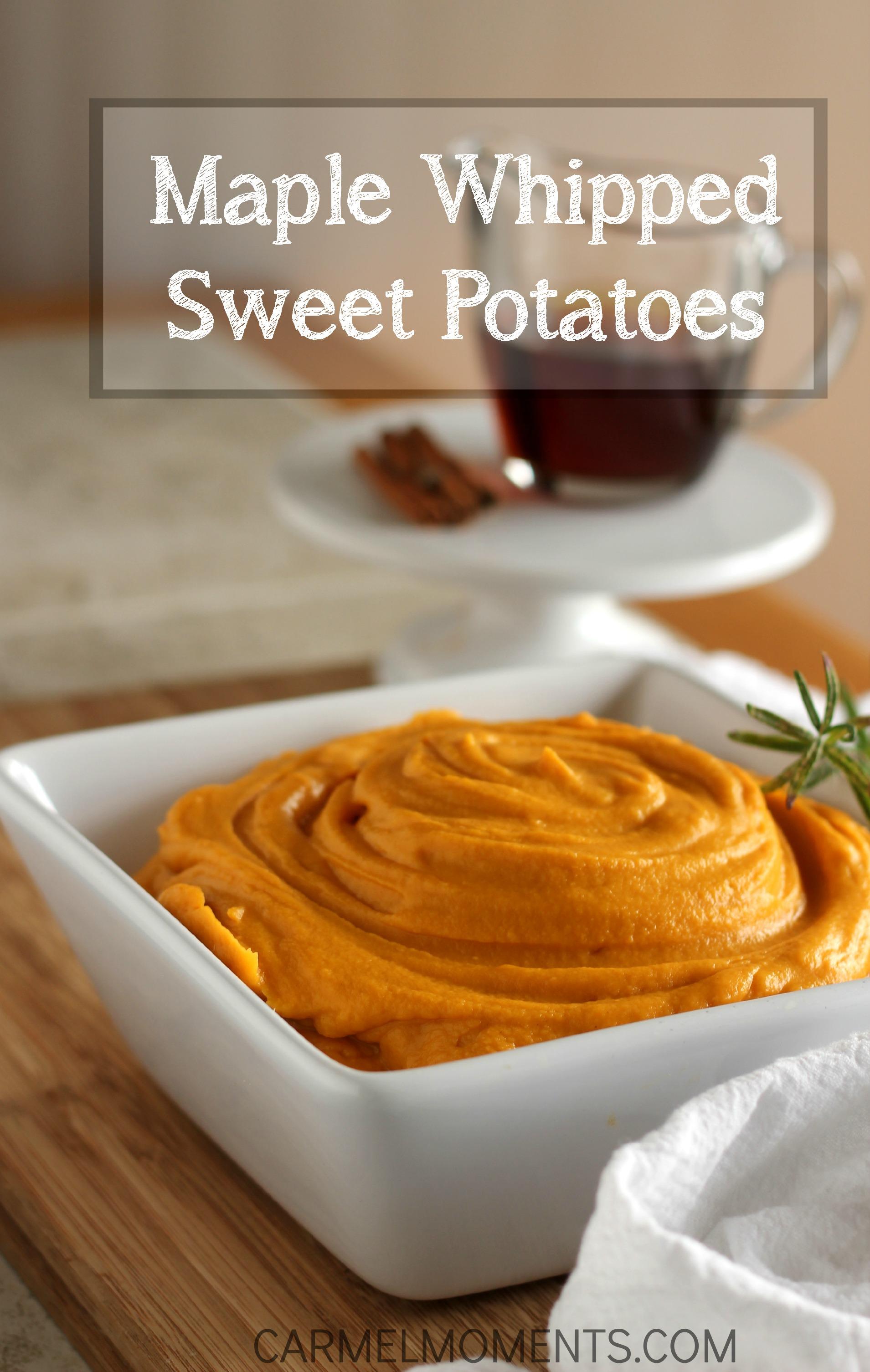 Maple Whipped Sweet Potatoes