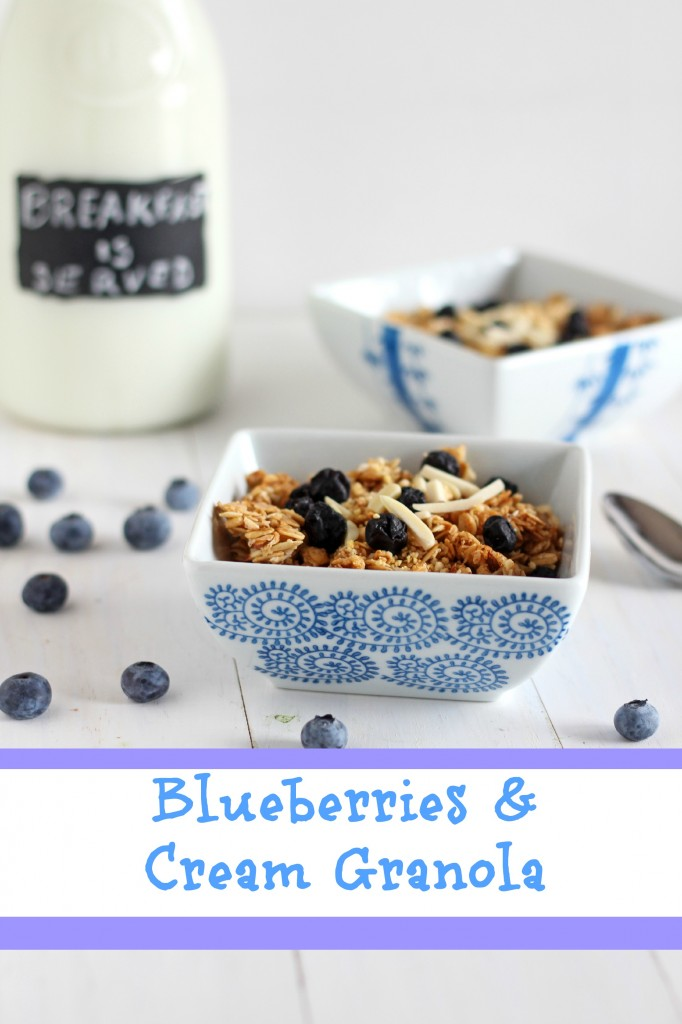 Blueberries and Cream Granola | carmelmoments