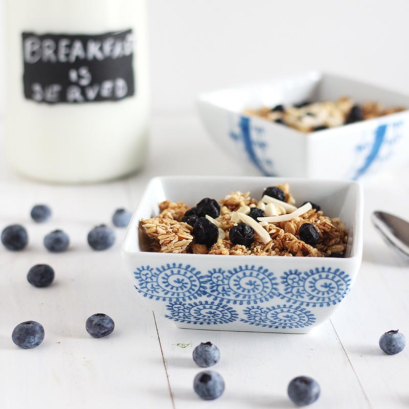 Blueberries and Cream Granola