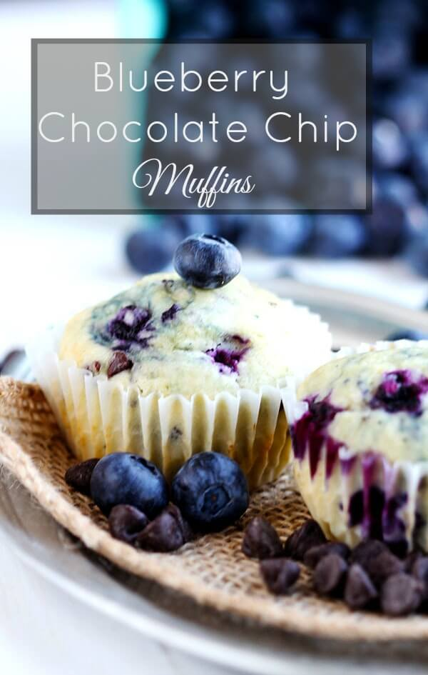 Can you describe the dinner table - Blueberry Chocolate Chip Muffins
