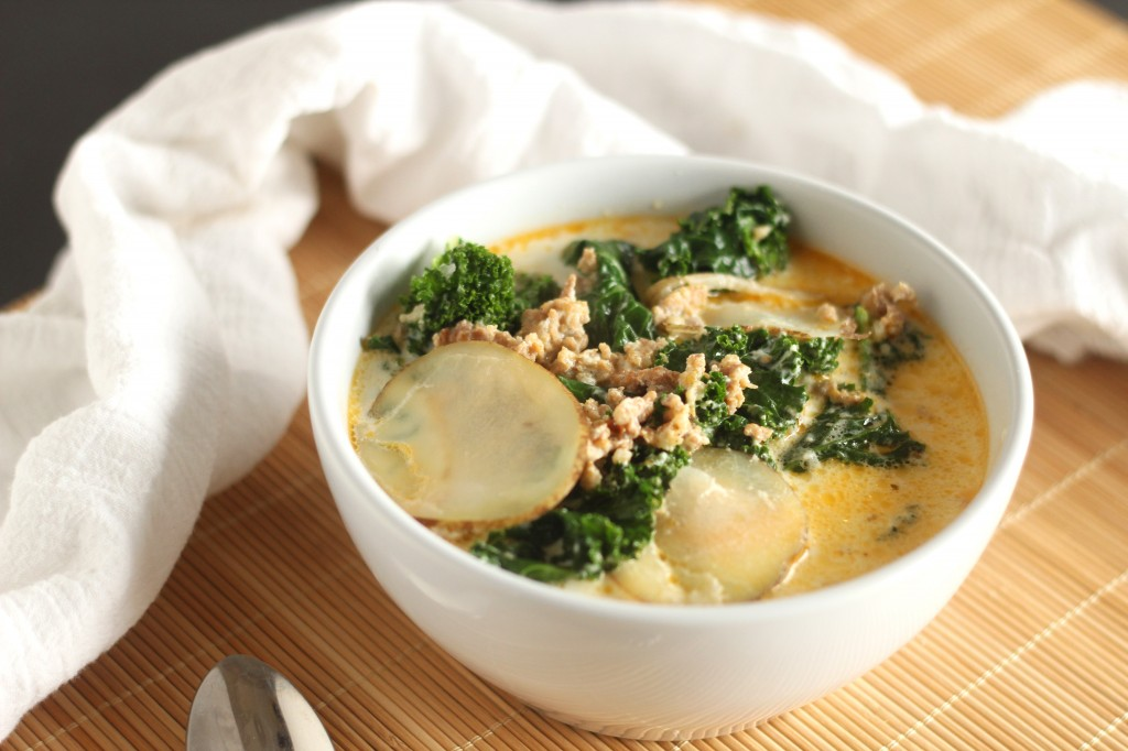 Sausage Potato and Kale Soup | carmelmoments.com