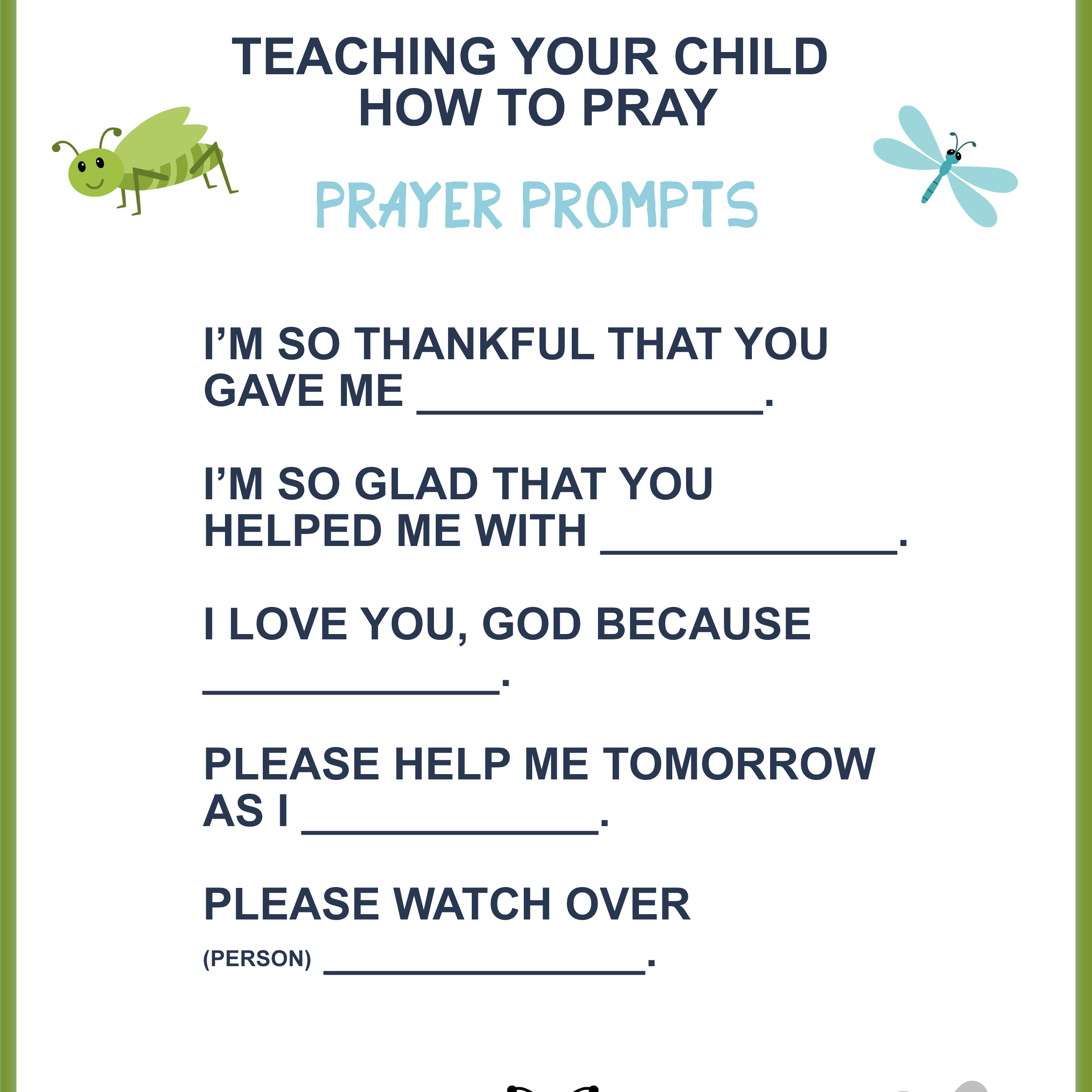 picture relating to Prayer Printable named Instruction Your Baby How towards Pray (No cost Printable)