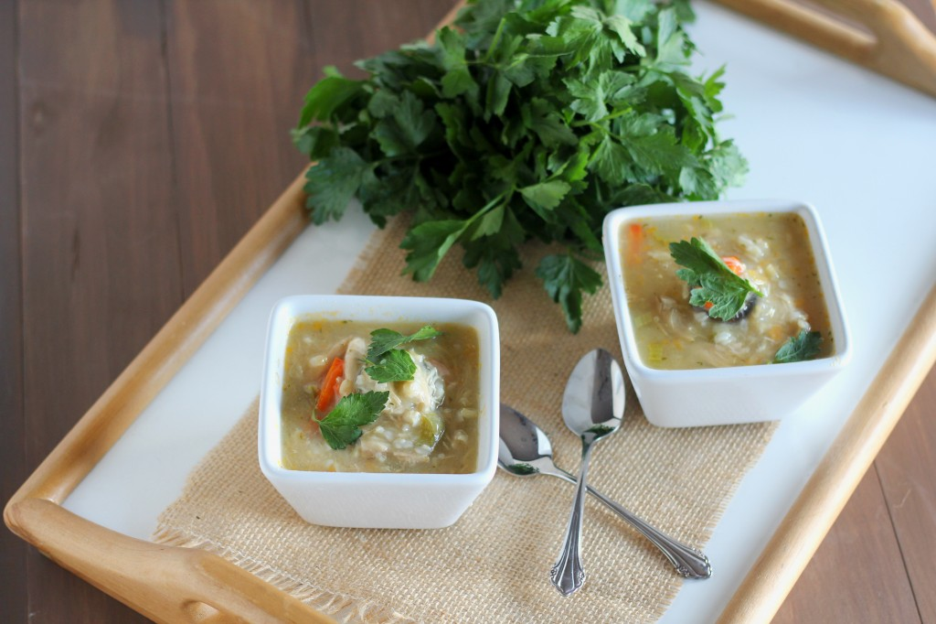 Chicken Rice Soup | gatherforbread.com