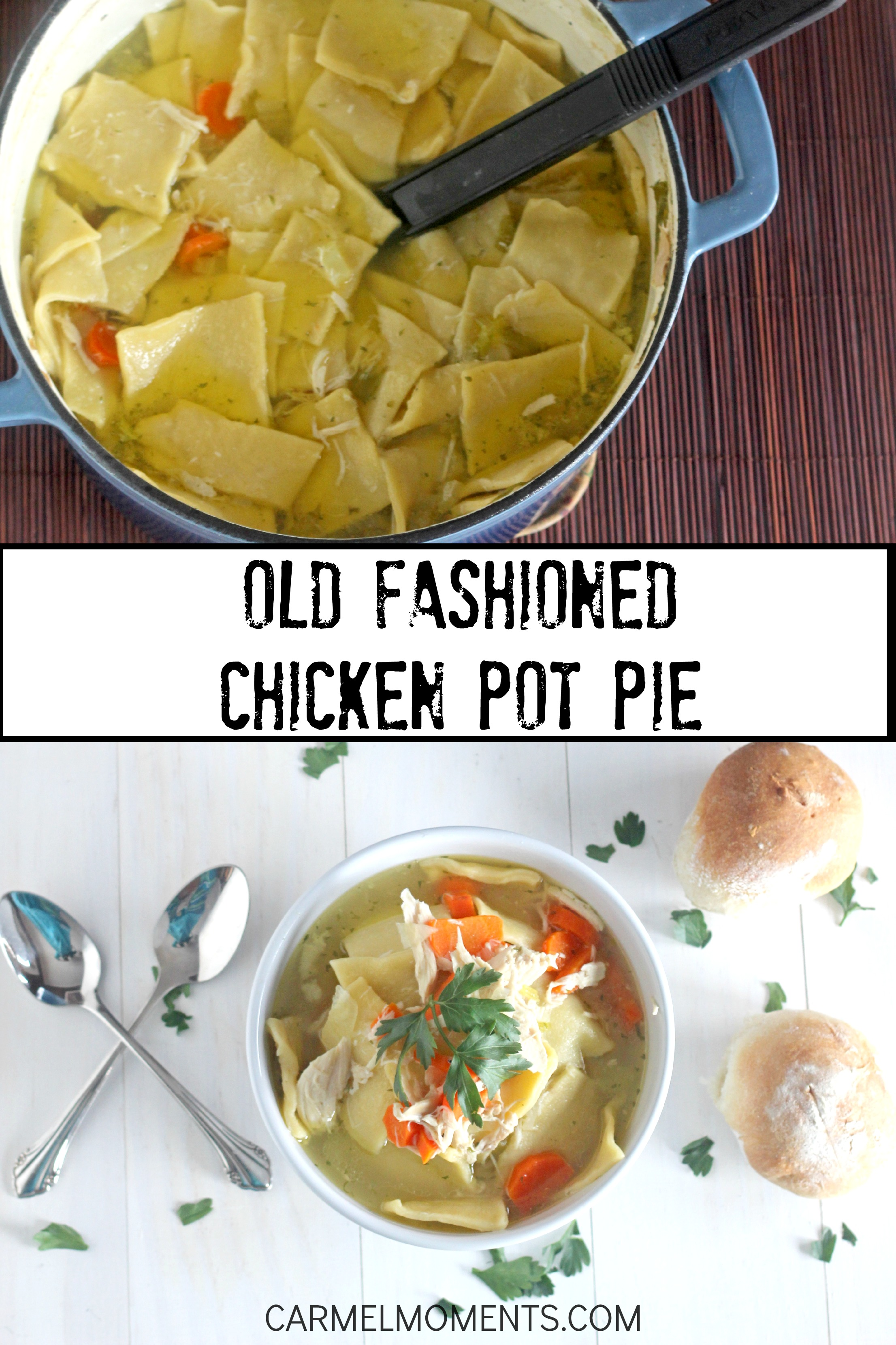 pot pie. This recipe is comfort food at it's finest. A one pot old ...