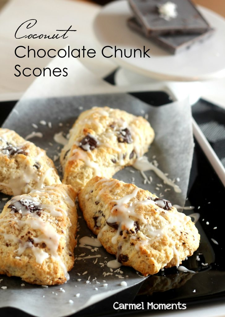 Coconut Chocolate Chunk Scones – Delicious scones made with coconut ...