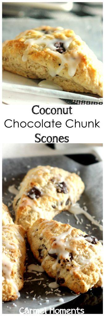 Coconut Chocolate Chunk Scones