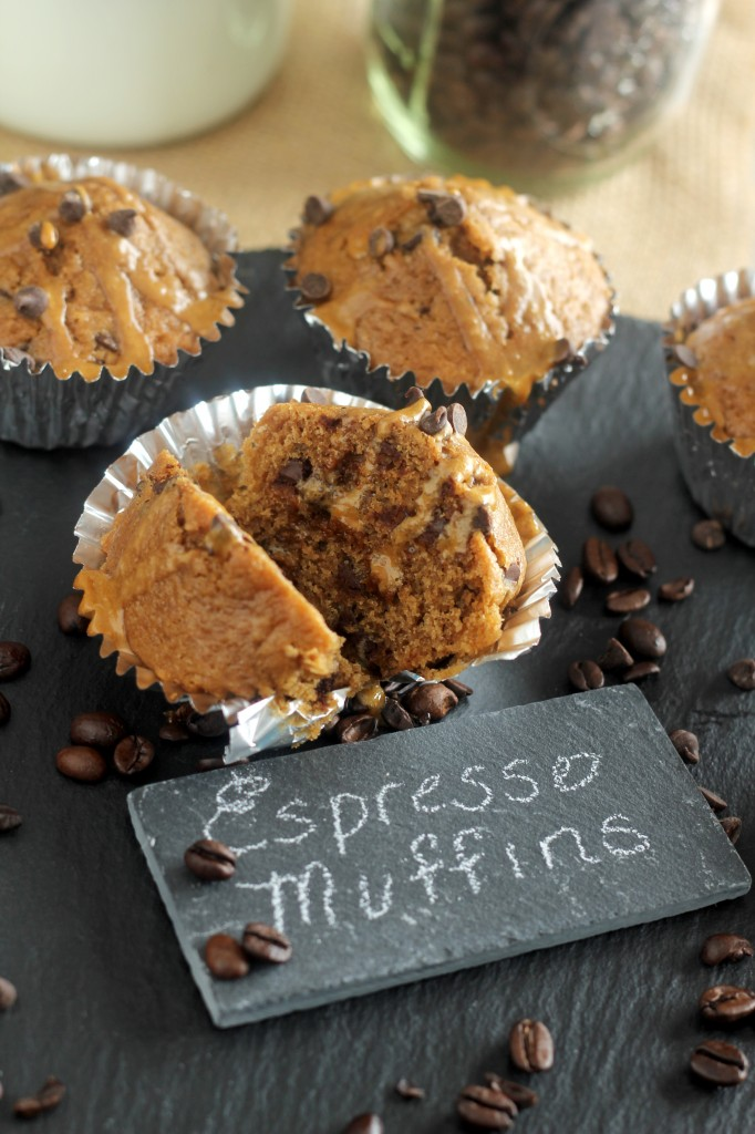 Espresso Chocolate Chip Muffins | gatherforbread.com