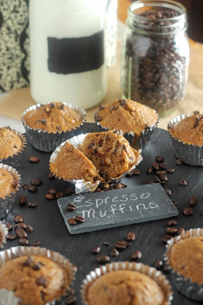 Espresso Chocolate Chip Muffins | gatherforbread.com