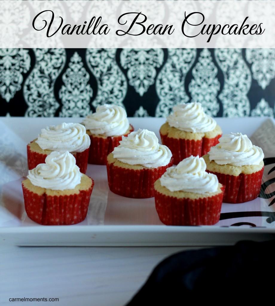 Vanilla Bean Cupcakes  Carmel Moments