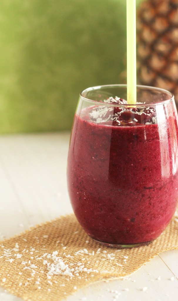 Caribbean Berry Smoothie | Carmel Moments - Luscious berries and sweet pineapple combined with coconut cream and milk to make a divine refreshment. Delightful to look at and delicious to eat.
