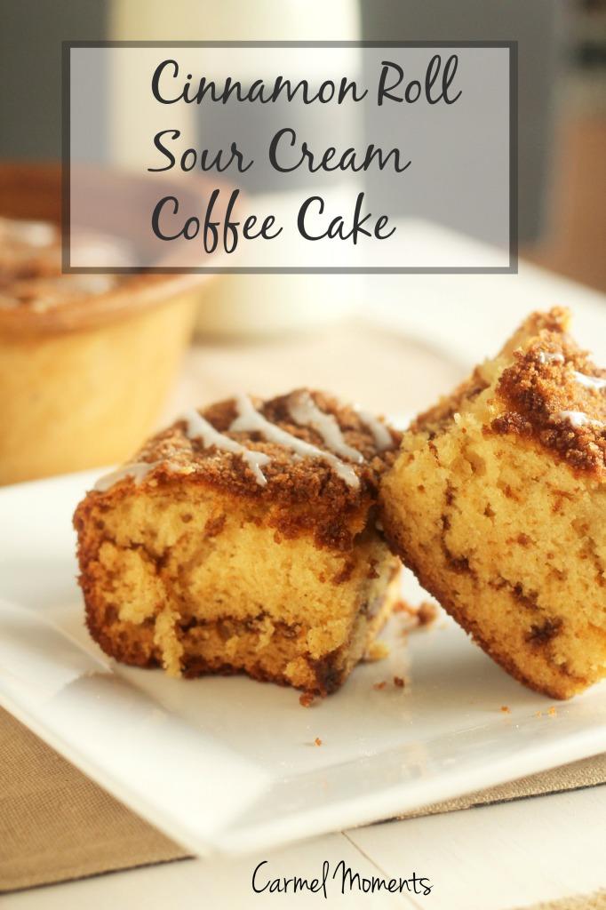 Cinnamon Roll Sour Cream Coffee Cake