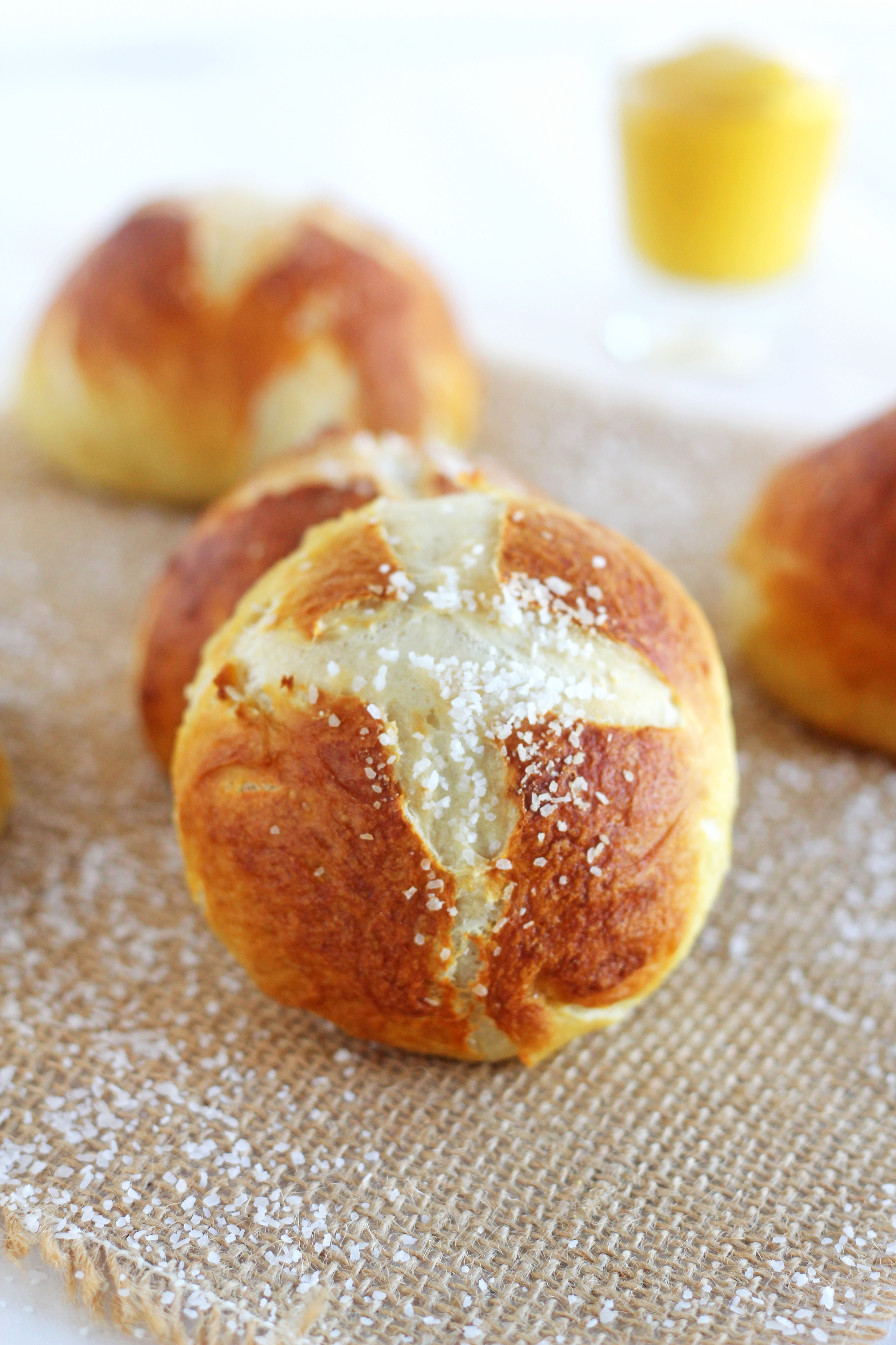 Pretzel rolls do the same wonders for me. I love eating them alone or ...