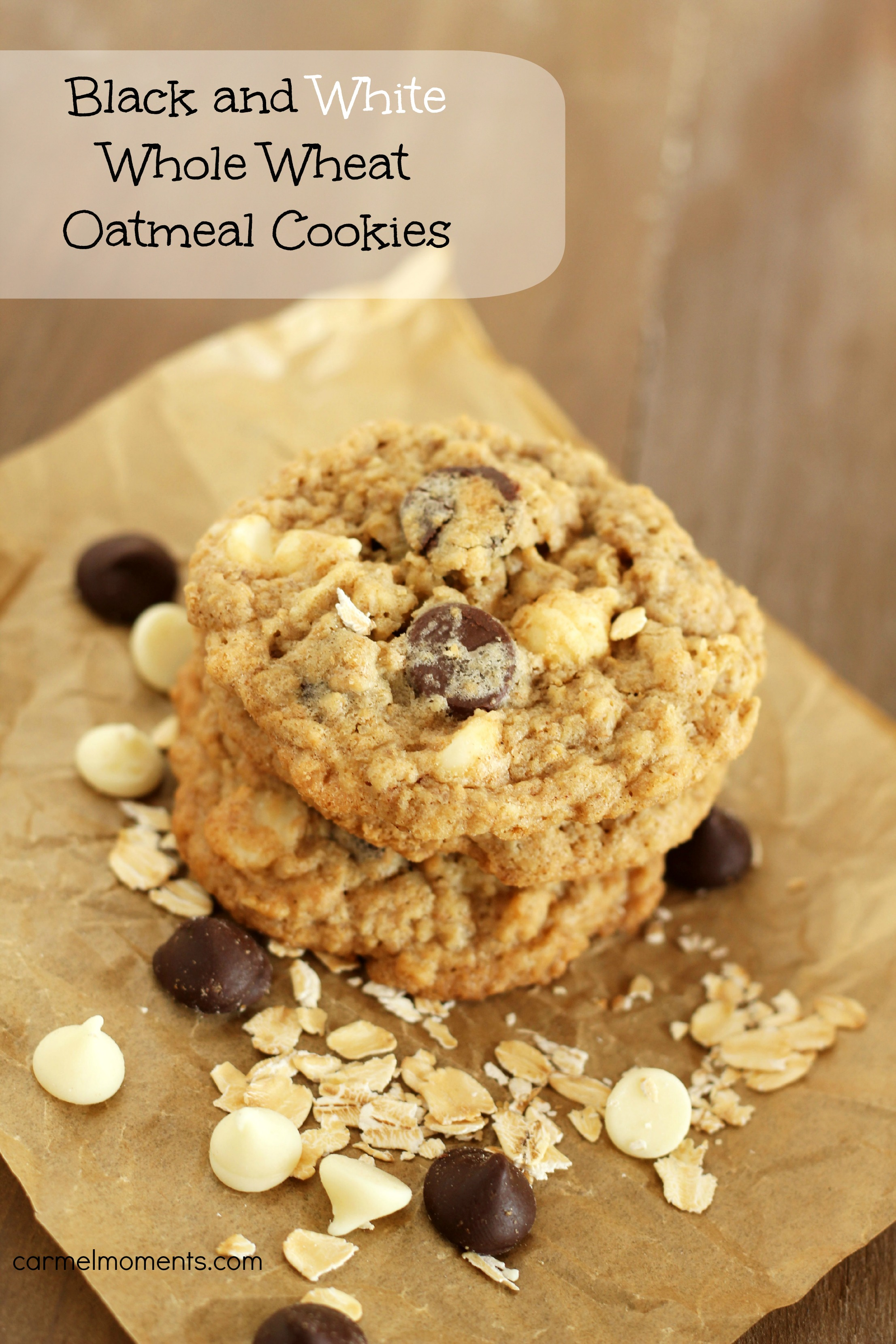 White Chocolate Chip Oatmeal Cookies Recipe — Dishmaps
