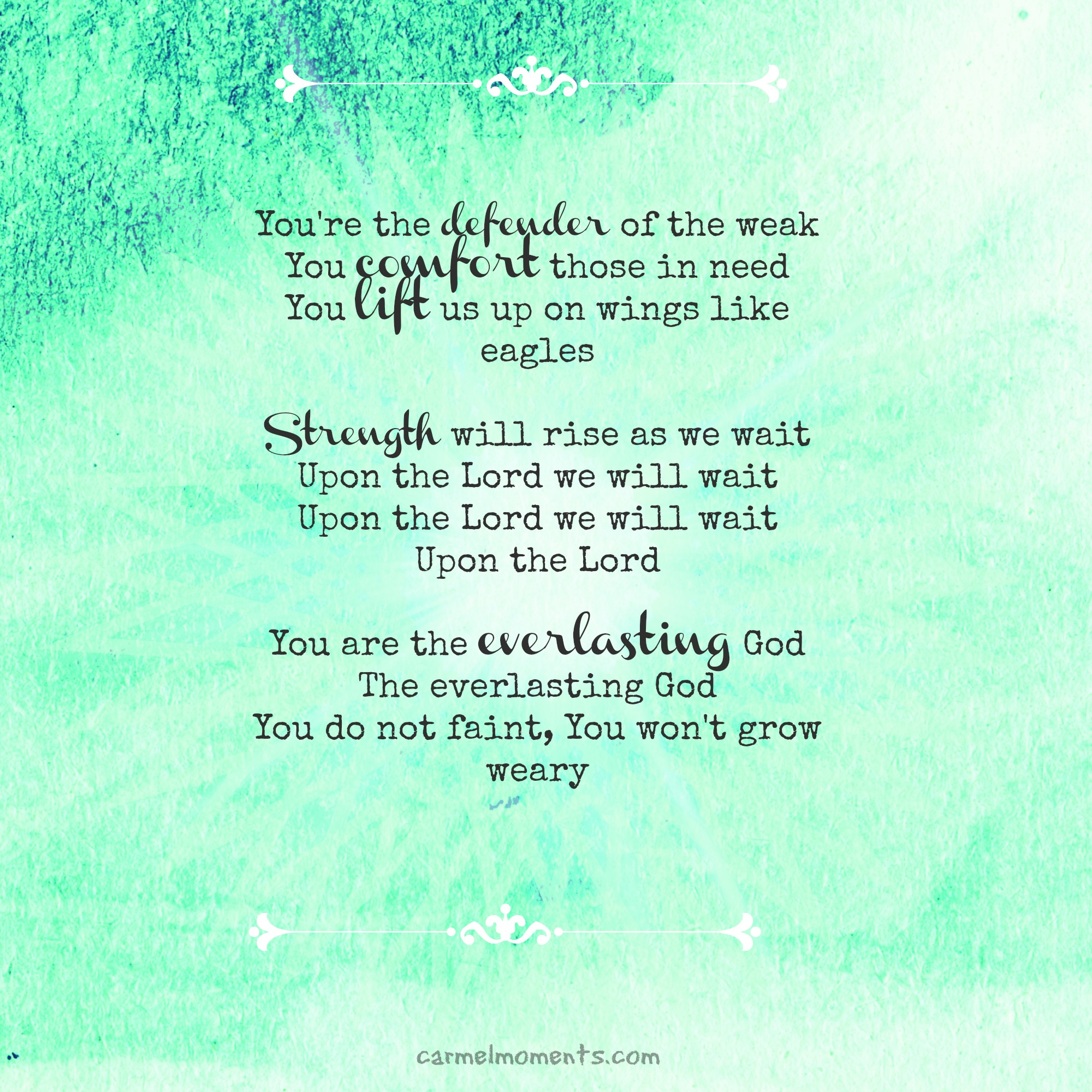 To the Weary Moms