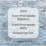 Grace Isn't Always Easy