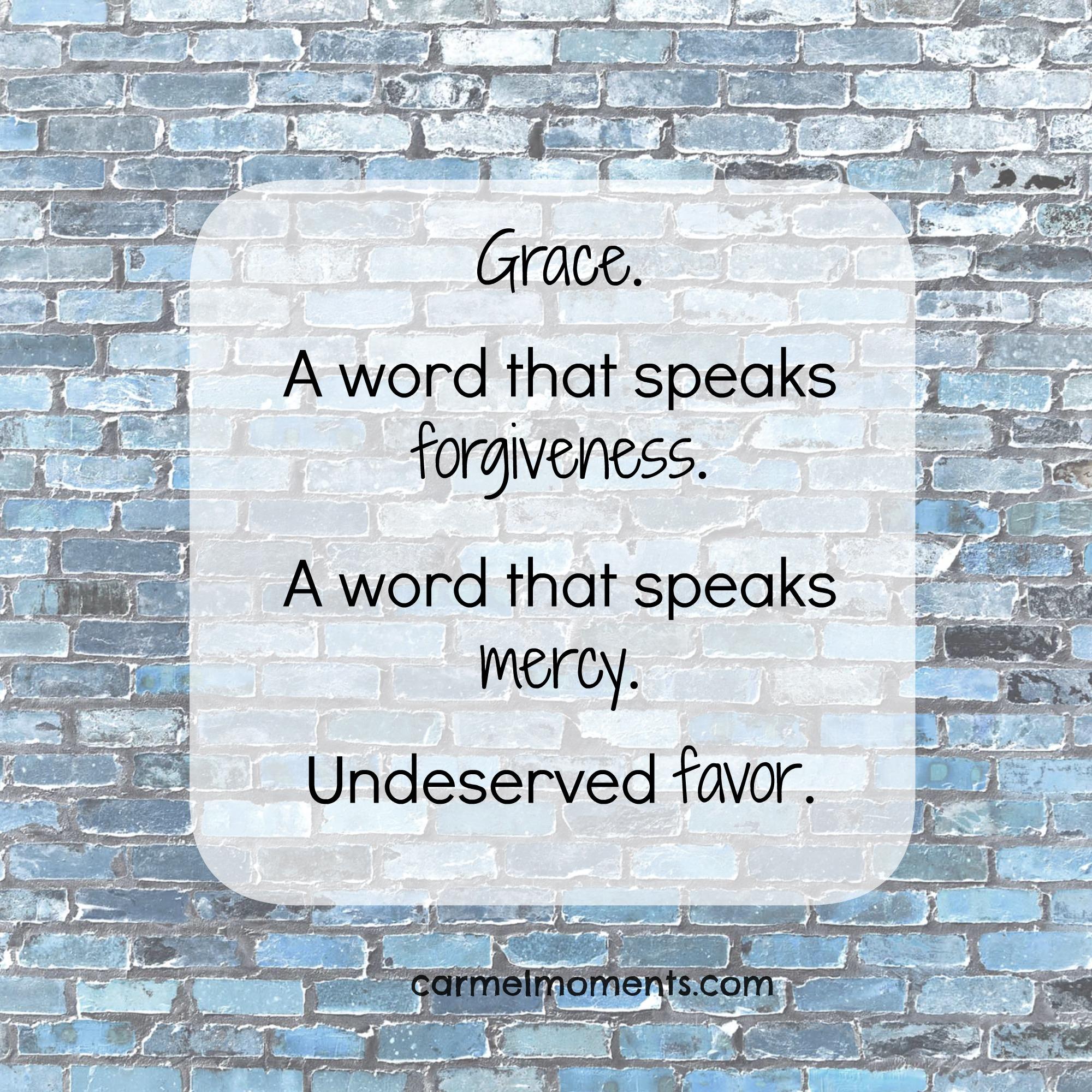Grace Isn't Always Easy
