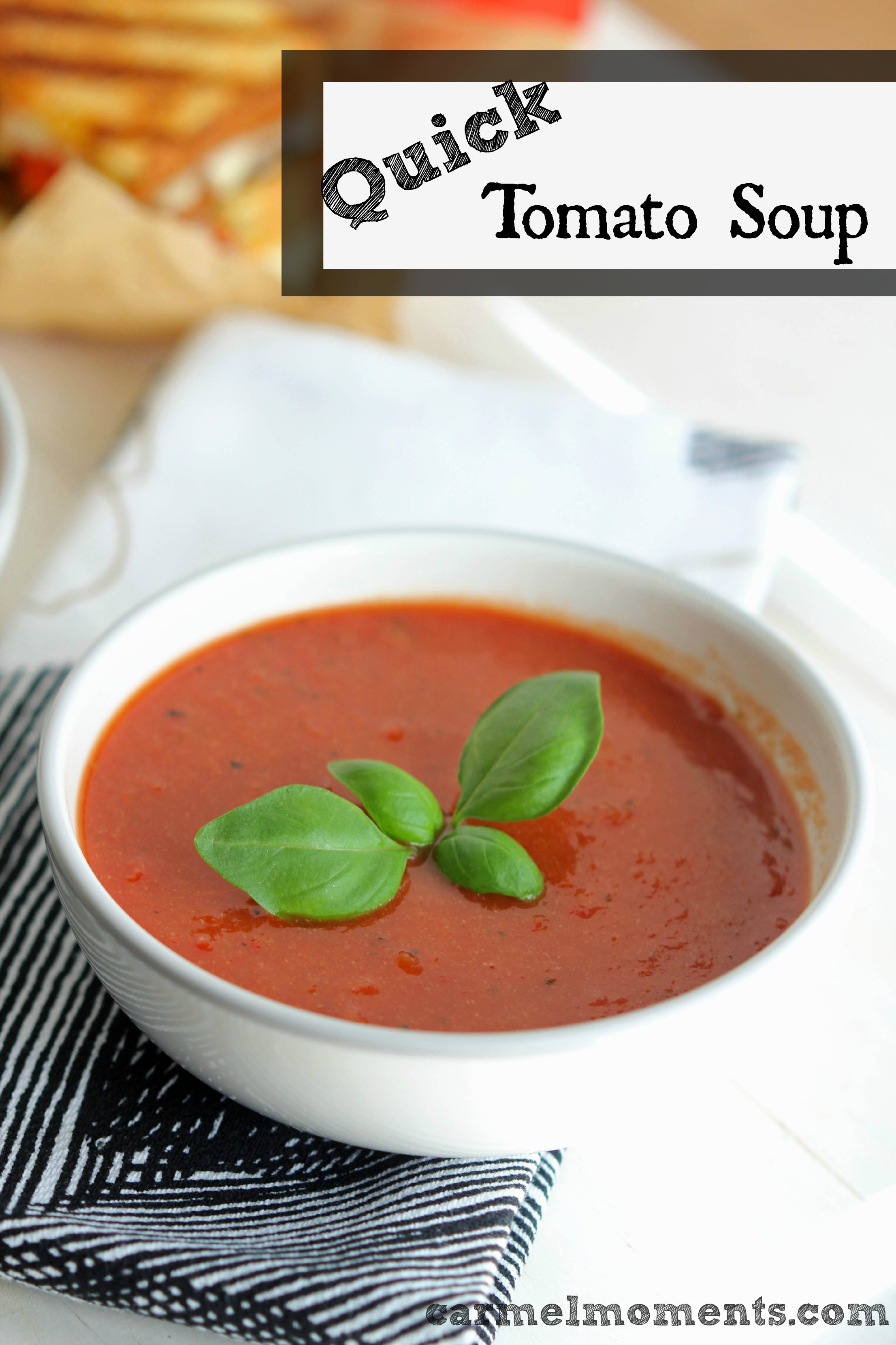 easy Tomato Soup – A delicious flavorful tomato soup. Quick and easy ...
