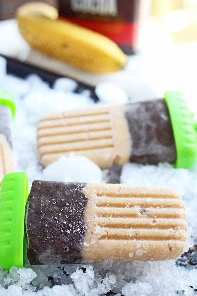 Banana Chocolate Popsicles