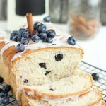 Blueberry Cinnamon Bread with Vanilla Glaze