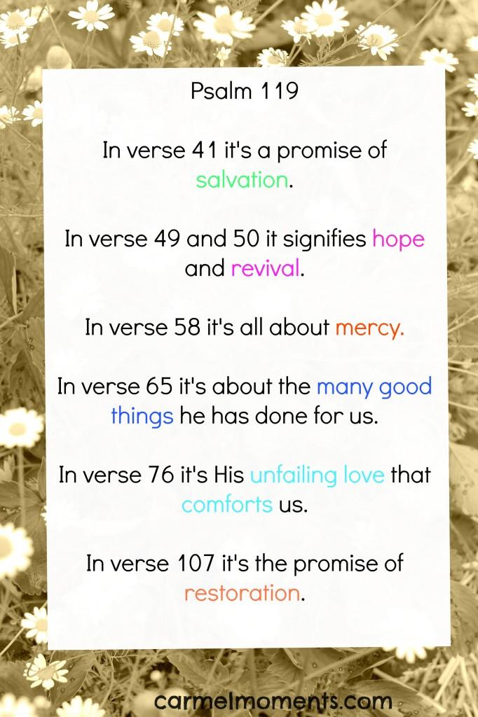 Psalm 119 Promises
