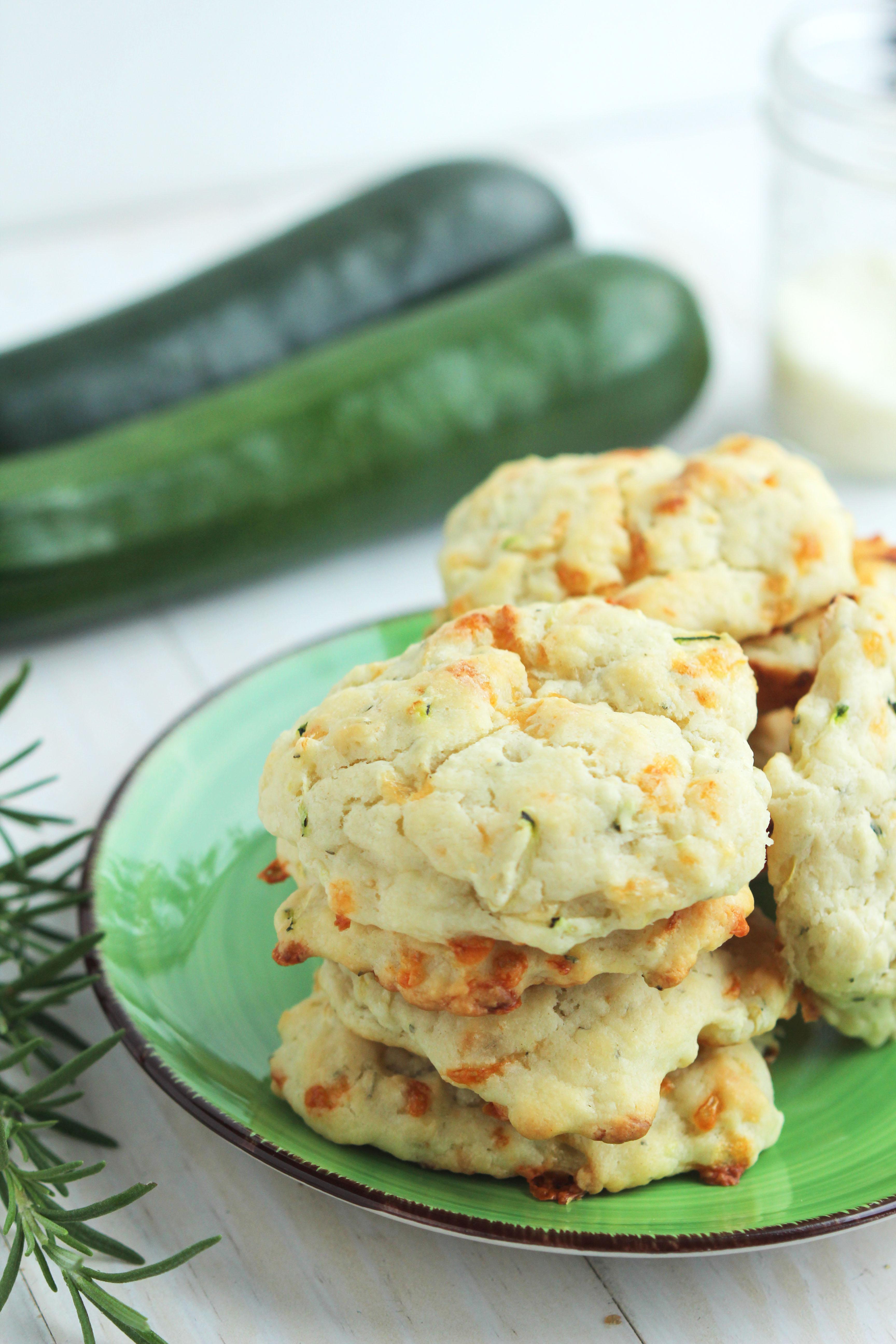 Zucchini Parmesan Buttermilk Biscuits