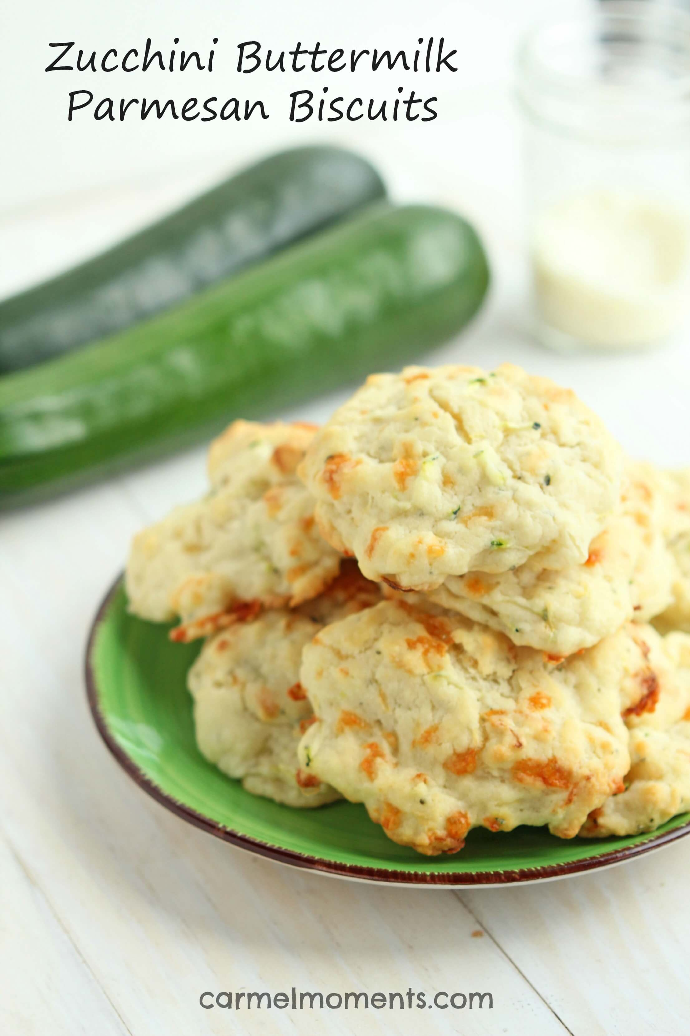 Buttermilk biscuits with garden fresh zucchini and loaded with ...