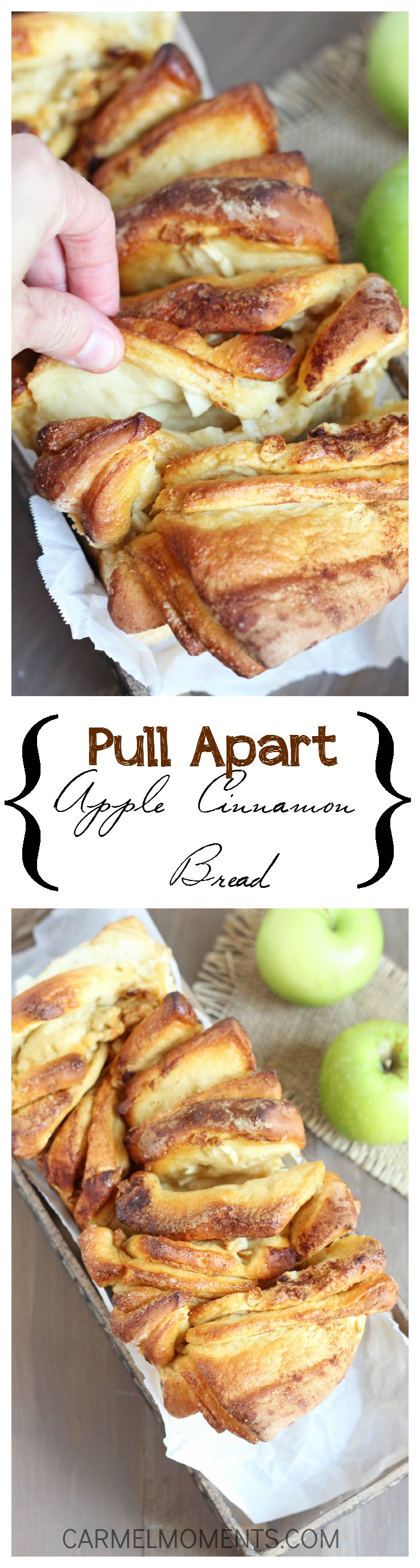 Apple Cinnamon Pull Apart Bread // gatherforbread.com