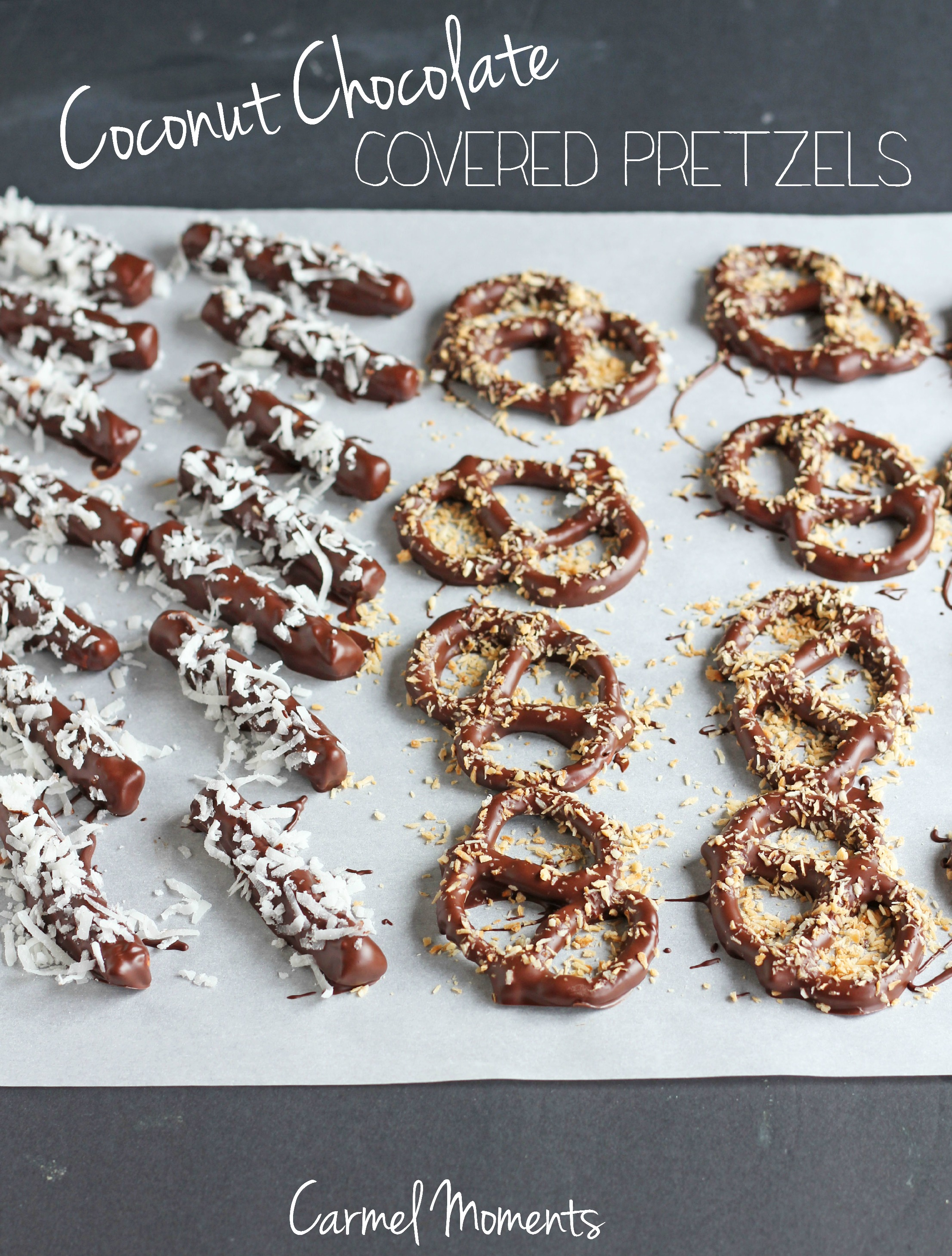 Coconut Chocolate Covered Pretzels
