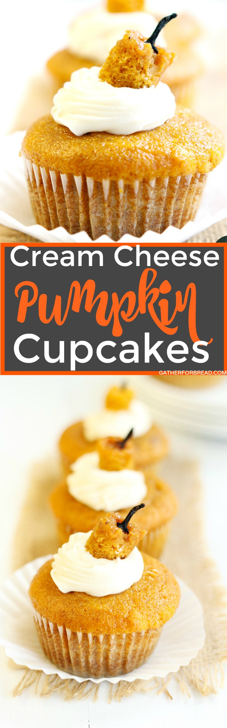 Cream Cheese Pumpkin Cupcakes