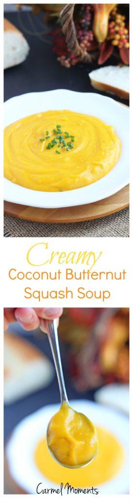 Creamy Coconut Butternut Squash Soup | @gatherforbread