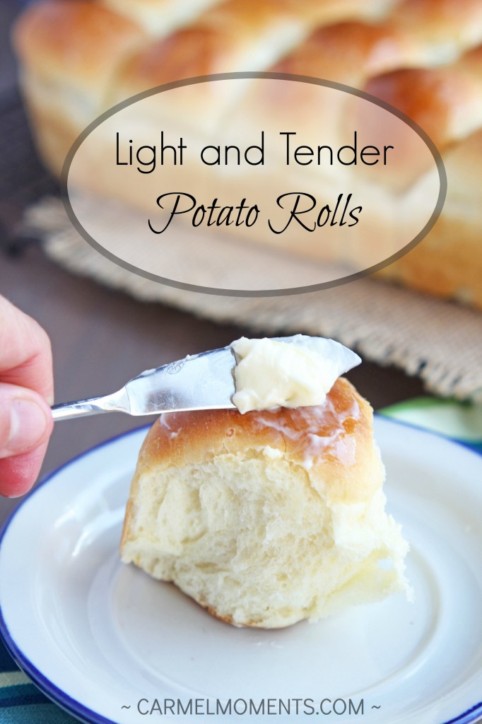 Light and Tender Potato Dinner Rolls  | gatherforbread.com