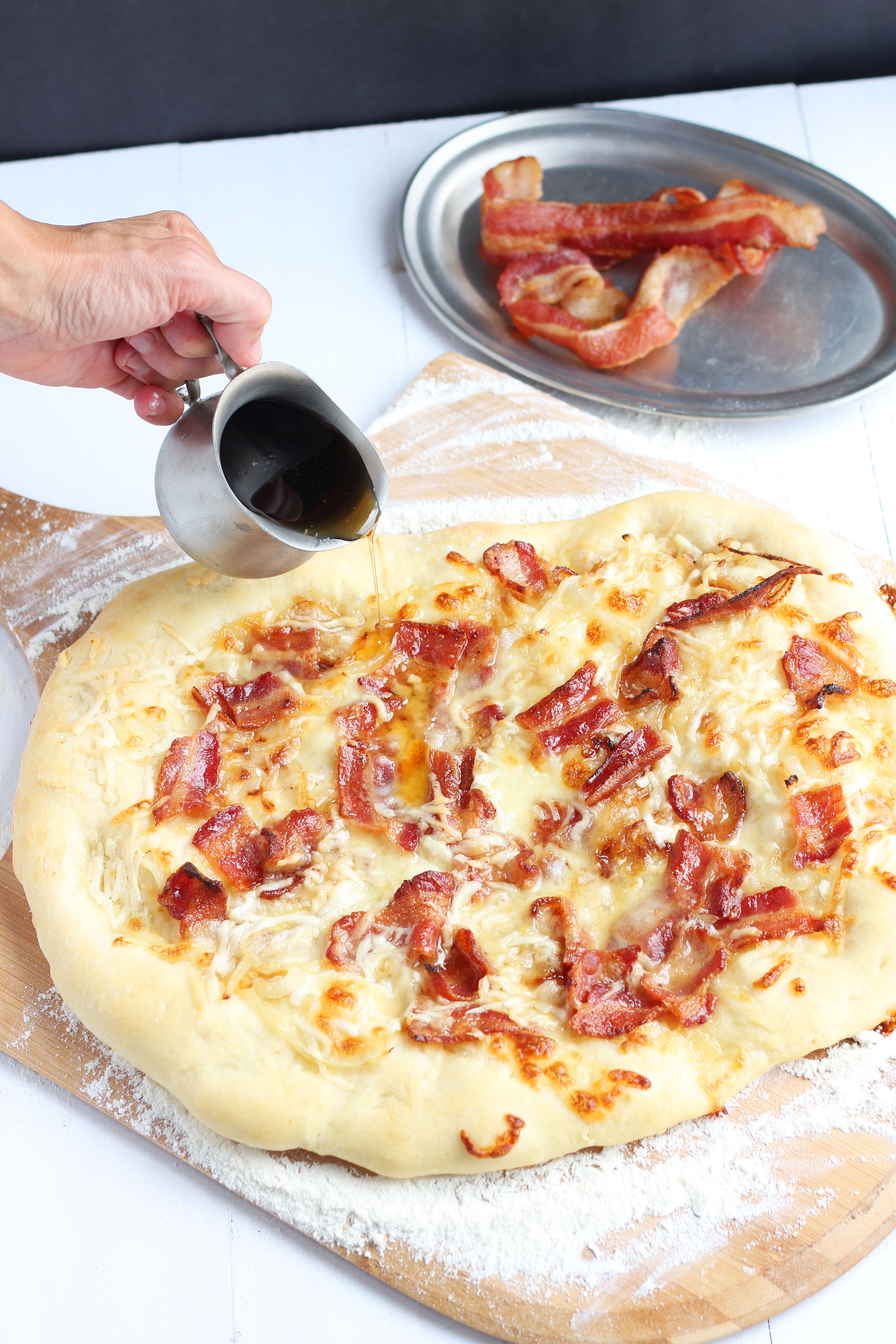 Maple Bacon and Caramelized Onion Pizza