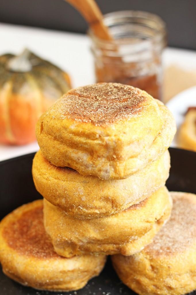 Pumpkin Spice English Muffins