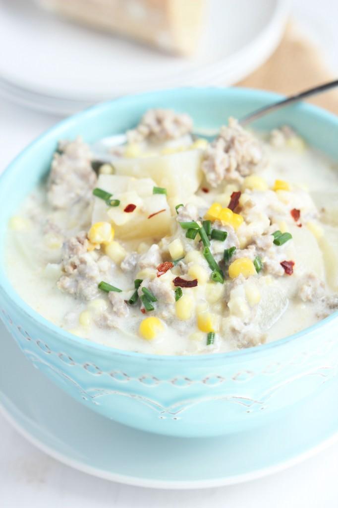 Sausage corn Chowder | Carmel Moments
