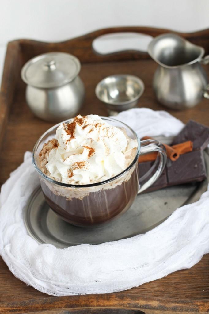 DIY Dark Chocolate Mocha -- Delicious dark chocolate mocha with an easy to make recipe. | gatherforbread.com