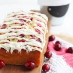 Cranberry Bread with White Chocolate Drizzle