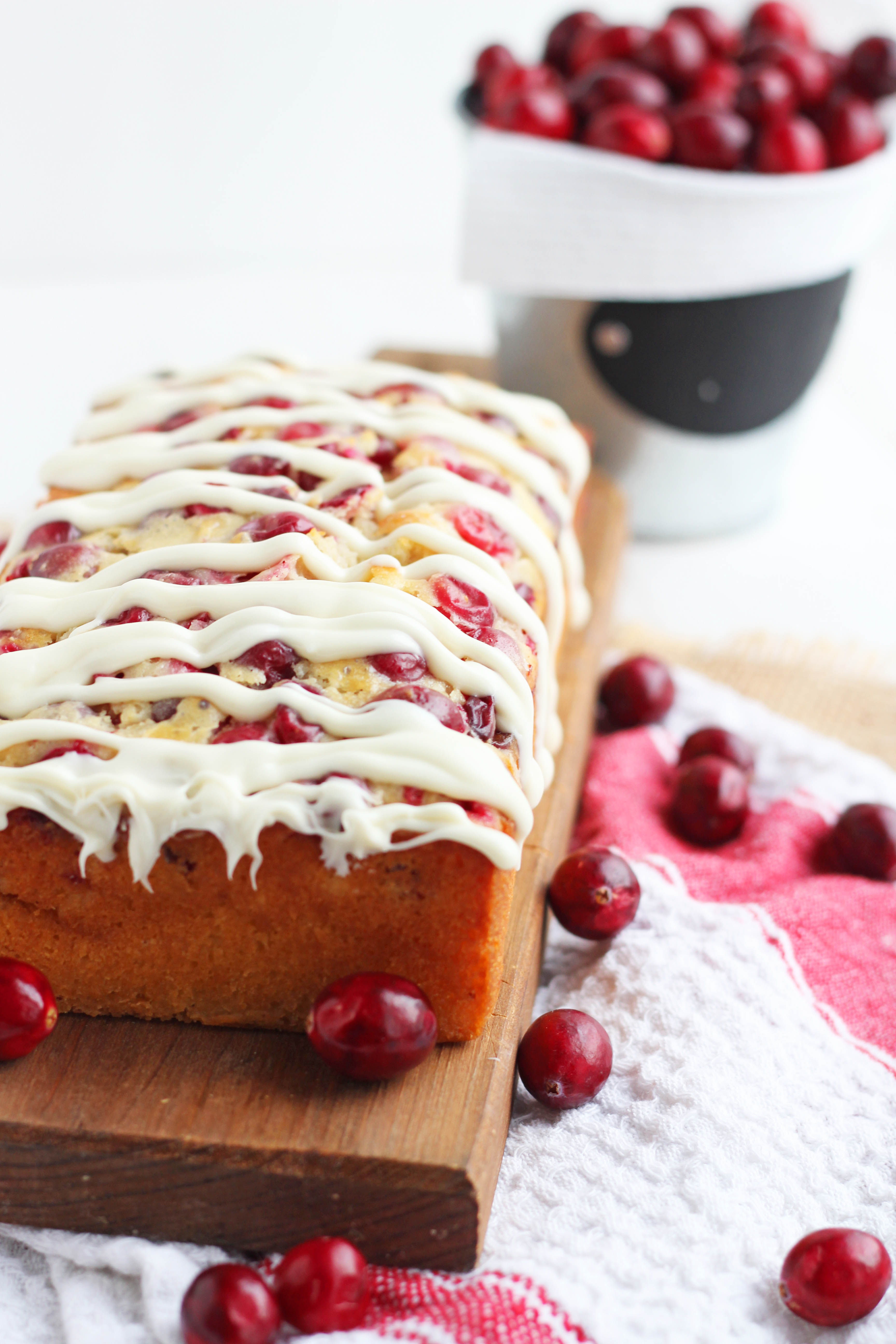 White Chocolate Cranberry Yeast Bread