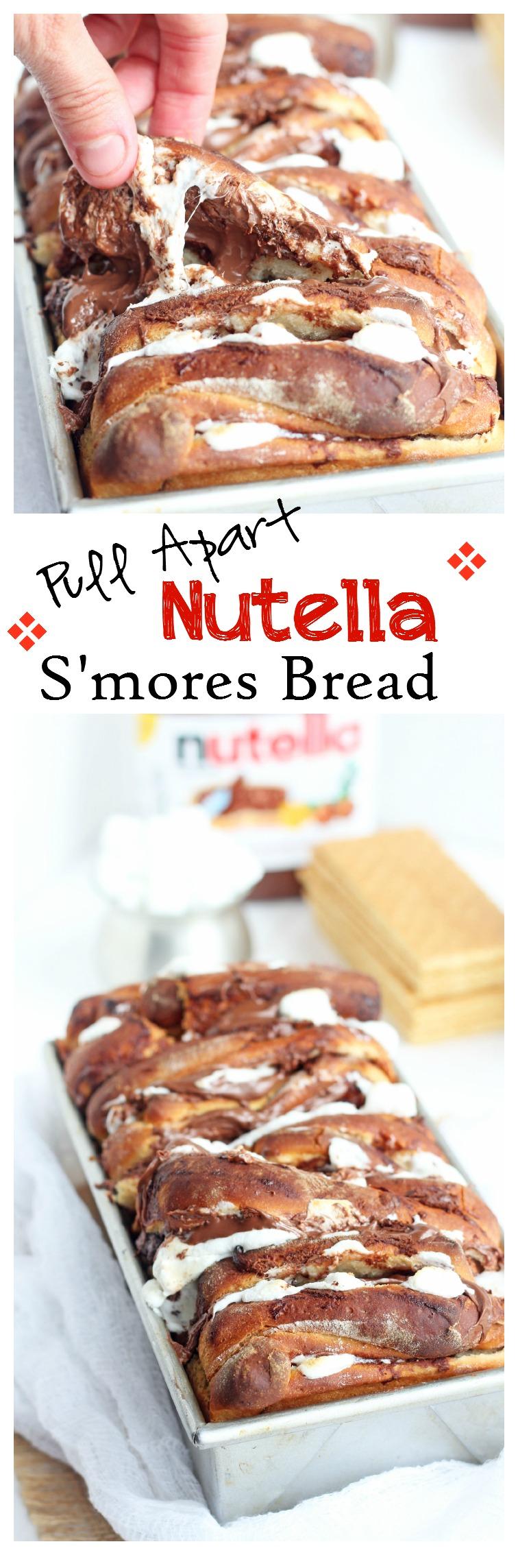Nutella Smores Pull Apart Bread