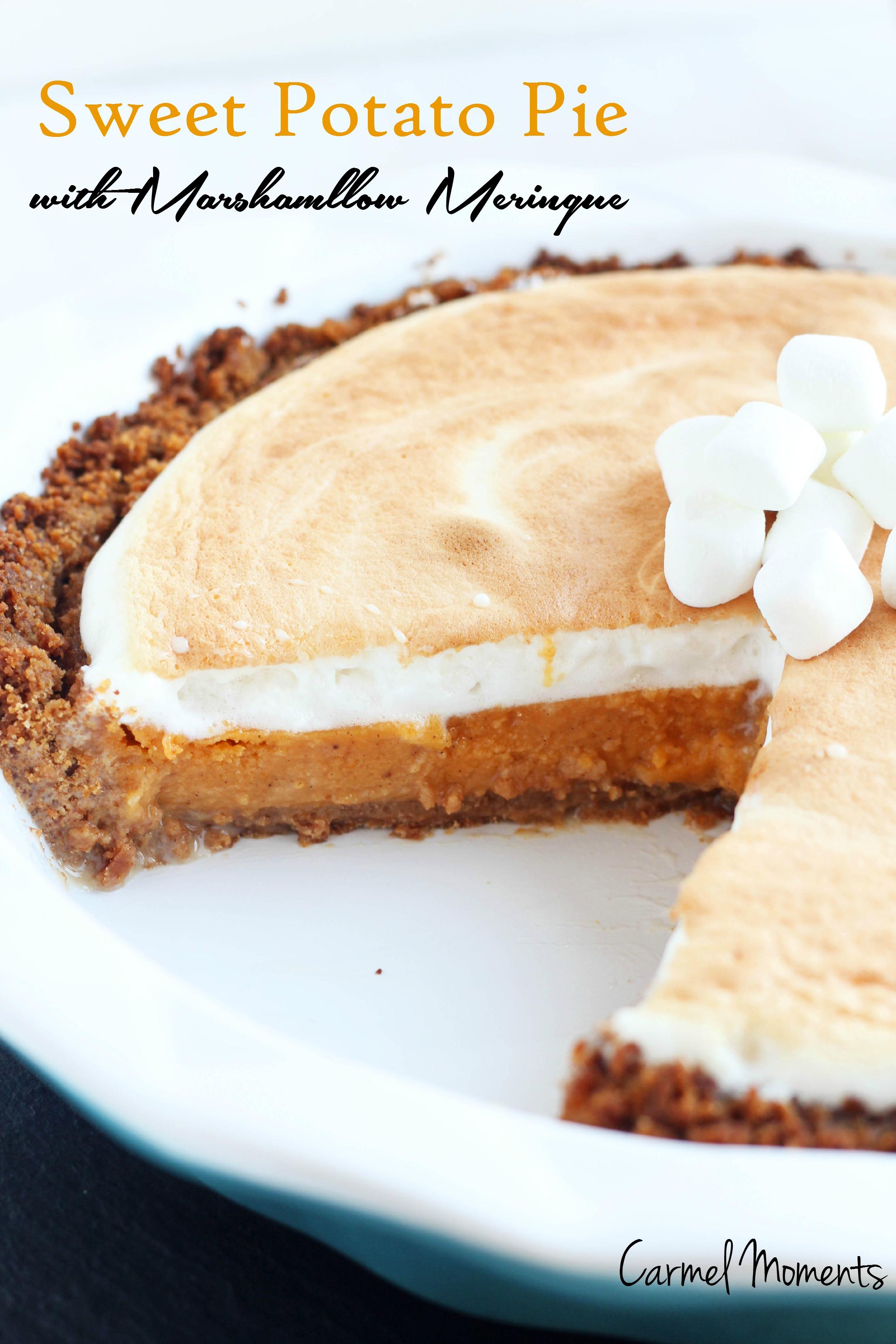 Sweet Potato Pie With Marshmallow Meringue