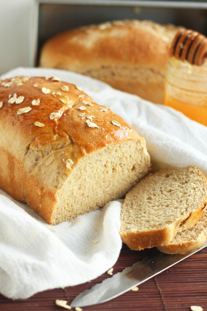 Whole Wheat Oatmeal Honey Bread 1