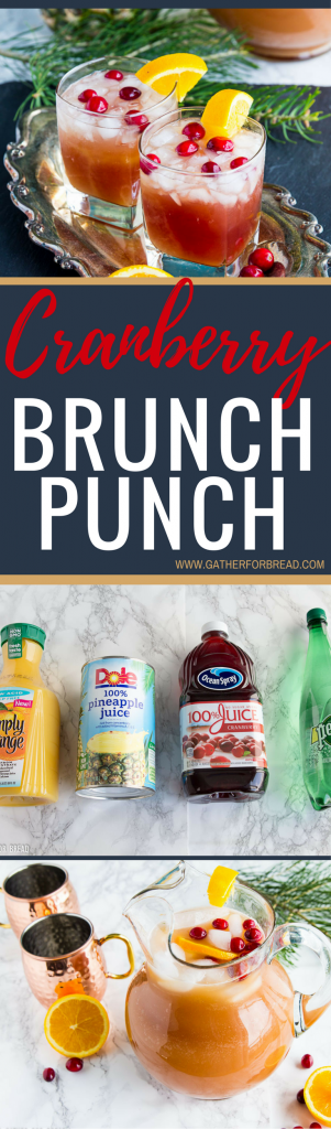Cranberry Brunch Punch - Delicious drink using only 4 ingredients. fresh taste combines pineapple, cranberries, orange juice for a chilled drink. Whips up in minutes. Perfect for the holidays .