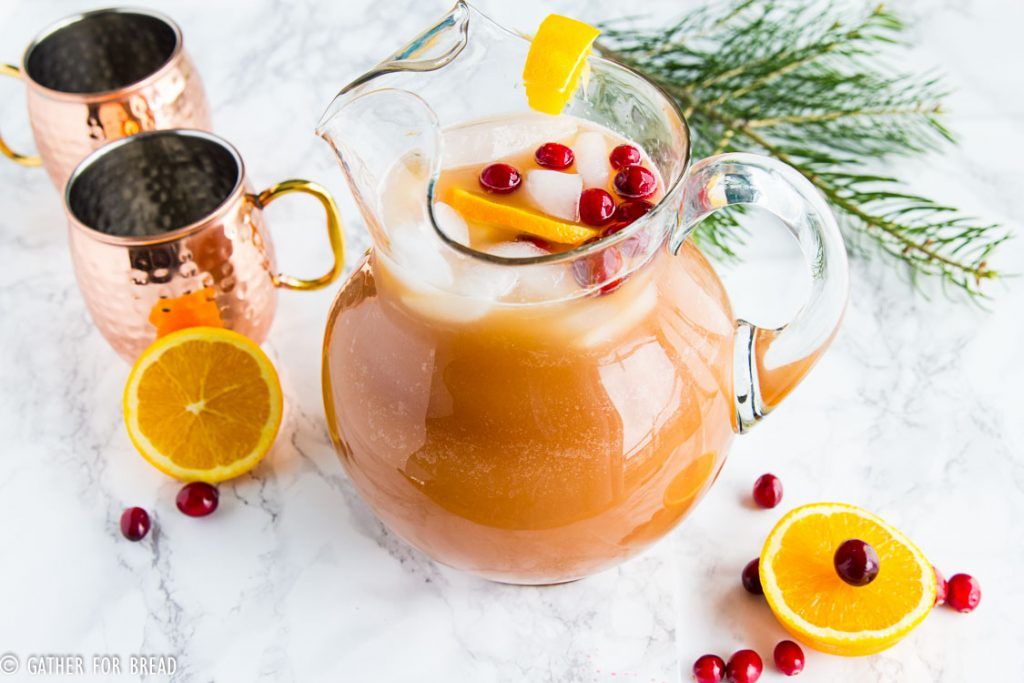 Cranberry Brunch Punch - Delicious drink using only 4 ingredients. fresh taste combines pineapple, cranberries, orange juice for a chilled drink. Whips up in minutes. Perfect for the holidays Christmas, Easter, Thanksgiving.