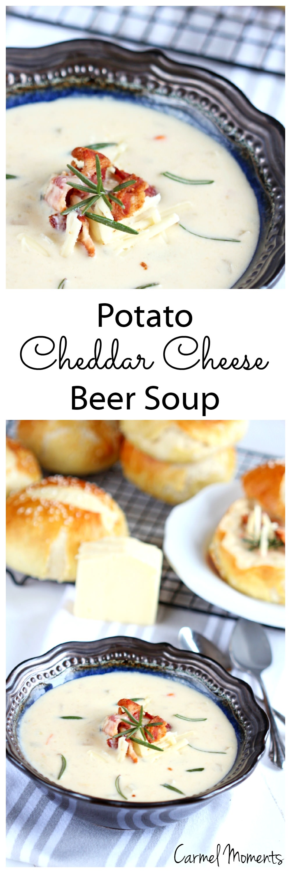 Potato Cheddar Cheese Beer Soup | Carmel Moments