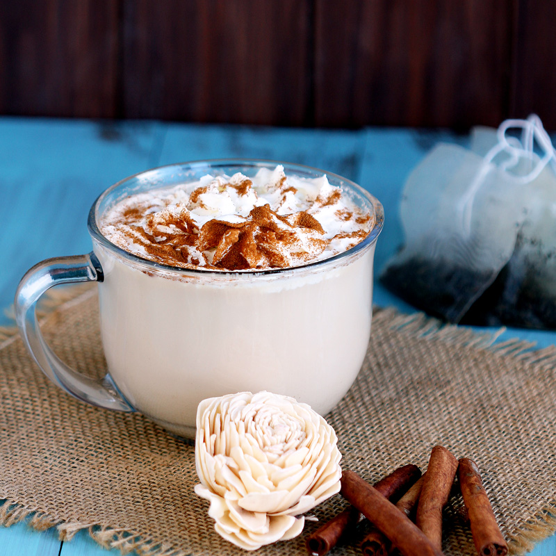 Chai Tea Latte for One - Recipe for DIY Chai tea made at home in the Keurig is delicious. Made with chai teabag, easy and ready in 5 minutes.