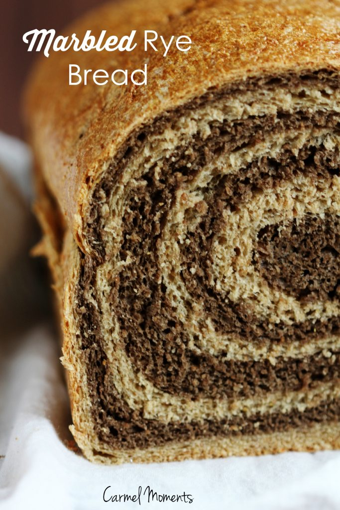 Marbled Rye Bread - Delicious swirled bread perfect for deli sandwiches. Picture tutorial.