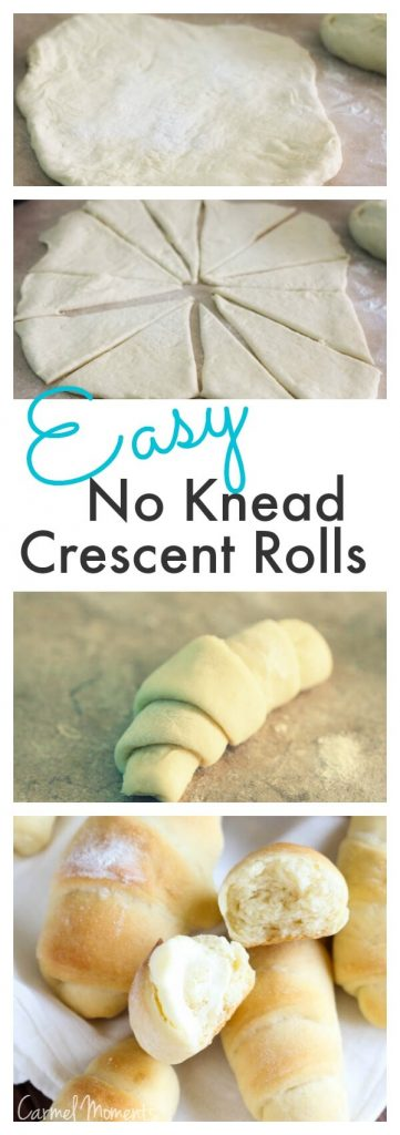 Easy No Knead Crescent Rolls